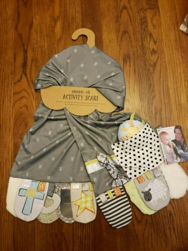 DEMDACO Mommy & Me Activity Scarf Faith Gray Baby Shower Christmas Gift Child