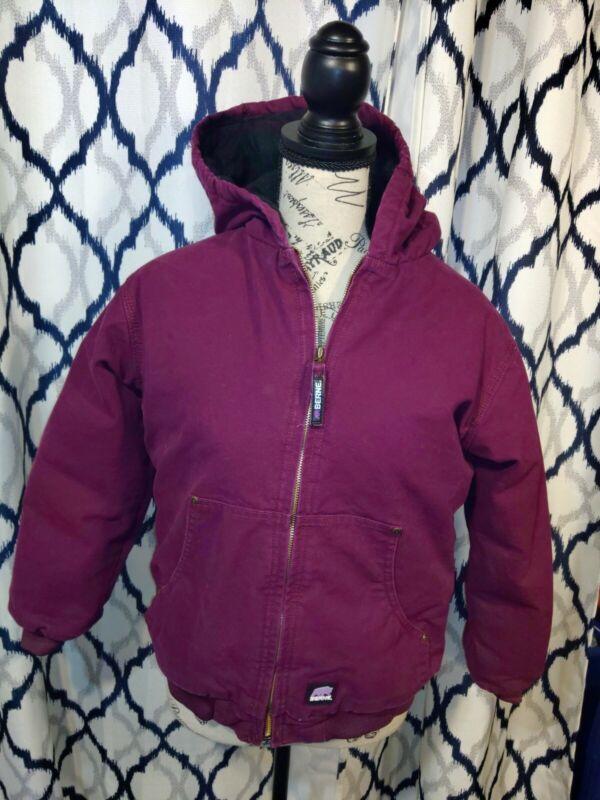 Youth Berne Coat Jacked Lined Large Purple 14-16