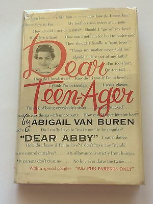 Dear Abby Abigail Van Buren Signed Dear Teen Ager 1959 Book Cbs Radio Advice