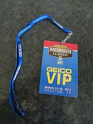 2017 Bassmaster Classic Vip Credential And Lanyard   Houston  Texas