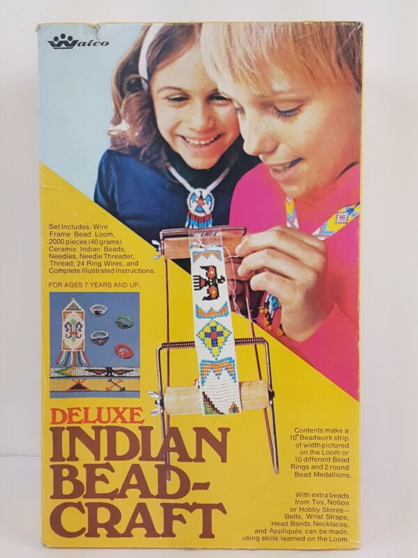 Vintage Deluxe Indian Bead Craft Loom Walco No. 3111 1974 Jewelry Hobby