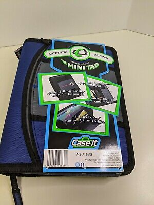 Case-it The Mini Tab 3-ring Binder With 1 Capacity Blue New