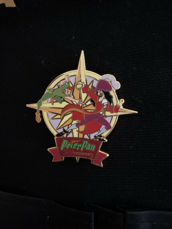 Disney Auction Le100 Pin Peter Pan 50th Anniversary Captain Hook Peter Pan