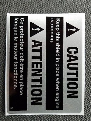 - John Deere Snowmobile Caution Decal