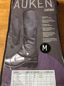Auken - leather half chaps for riding.