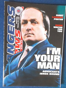 Rangers News Magazine - February 1998 - No 1263 - Dick Advocaat Cover