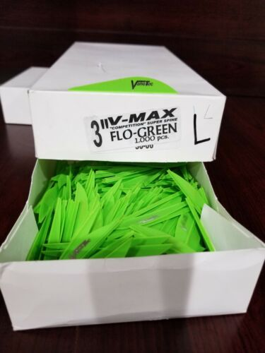 """150 V-Max Competition Super Spine 3"""" inch Fletchings, Archery Vanes With Logo"""