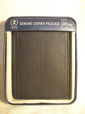 mens black leather passcase wallet w flip