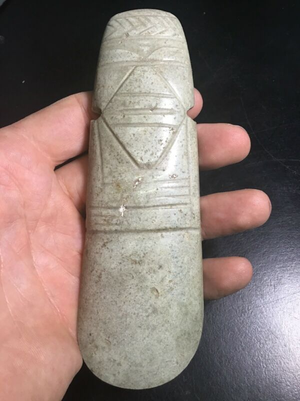 Pre Columbian Jade Costa Rican Axe God Not Mezcala