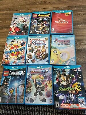 10 Nintendo Wii U Games Lot Lego Disney