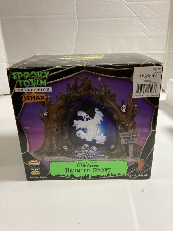 Lemax Spooky Town Haunted Grove #64423 Ghost Cave Lights Animated Retired 2006