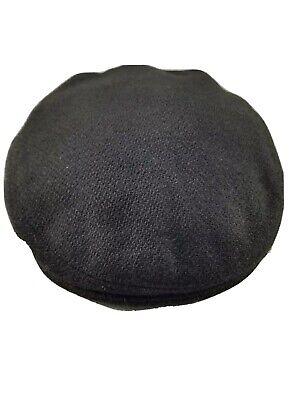 Kevin & Howlin Vintage Irish Wool Flat CapBlack Donegal Tweed 7 3/8 Handwoven