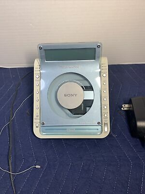Sony Dream Machine ICF-CD855V CD Alarm Clock Radio Player Tested Works Vintage