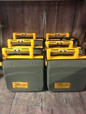 Lot Of 6 Lifepak 500t Aed Training Defibrilllator Medtronic W Battery