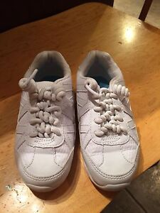 White sneakers used for Cheerleading