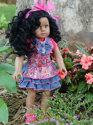 American Fashion World ~ 18 Inch ~ Virginia ~  African American Girl Doll
