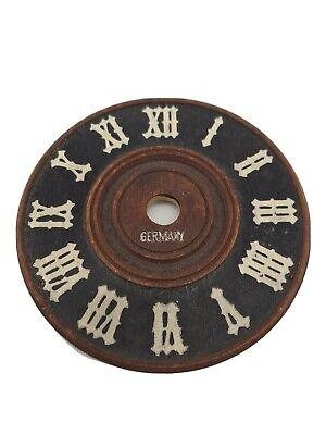 Vintage German Wooden Cuckoo Clock Dial Face