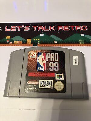 NBA Pro 99 Nintendo N64 PAL UKV English Cart Only