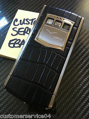 Genuine Vertu Android Ti Black Alligator Luxury Phone Super RARE Brand NEW