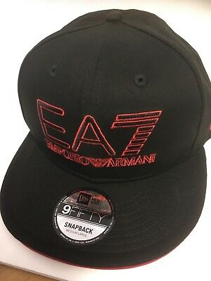 A35 NEW ERA OFFICIAL 9FIFTY EMPORIO ARMANI EA7 Snapback Baseball Cap * M/L