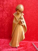 Bella,vecchio Figura Di Legno__bambino Con Uccello__43cm ___a.m.stuflesser__st -  - ebay.it