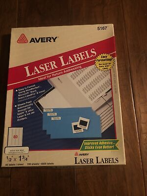 Avery 5167 Laser Return Address Labels 12 X 1 34 80 Labels100 Sheets8000