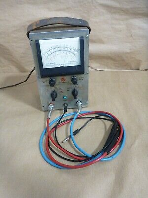 Works Rca Voltohmyst Type 195a Code 1146 With Probes Vintage Volt Meter