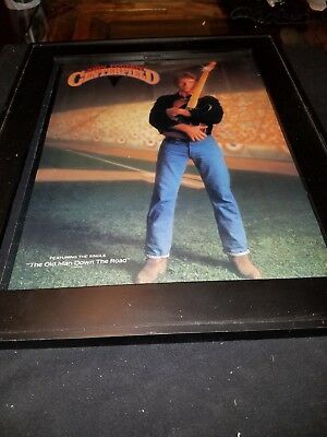 John Fogerty The Old Man Down The Road Rare Original Promo Poster Ad Framed!