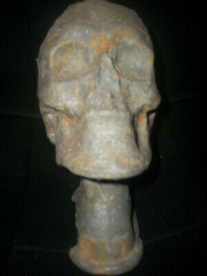 Antique Mortician Reconstruction Metal Skull Mortuary Funeral Embalming Odd RARE