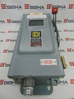 Square D Hu361awkvw Heavy Duty Safety Switch 30 Amp 600vac 30h.p.