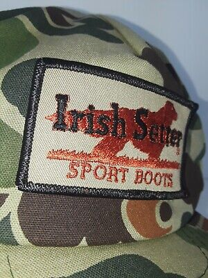 Irish Setter Patch Red Wing Hat Cap Work Boots Hunting Camo Vintage Snapback   Irish Patch Cap