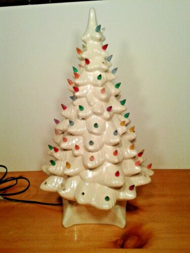 "Vintage Porcelain/Ceramic Christmas Tree 19.5"" Tall"