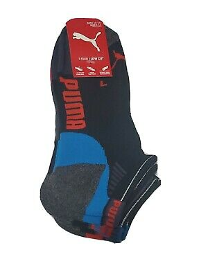 Puma Mens 3 PACK PREMIUM/ LOW CUT Socks Size 10 -13 ~ FREE SHIPPING!!