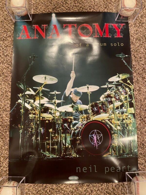 Neil Peart Anatomy Of A Drum Solo poster 28x20