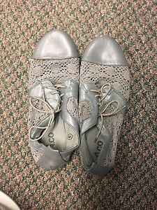 Grey summer shoes