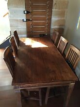 Balinese timber dining table and 6 chairs Balmain Leichhardt Area Preview