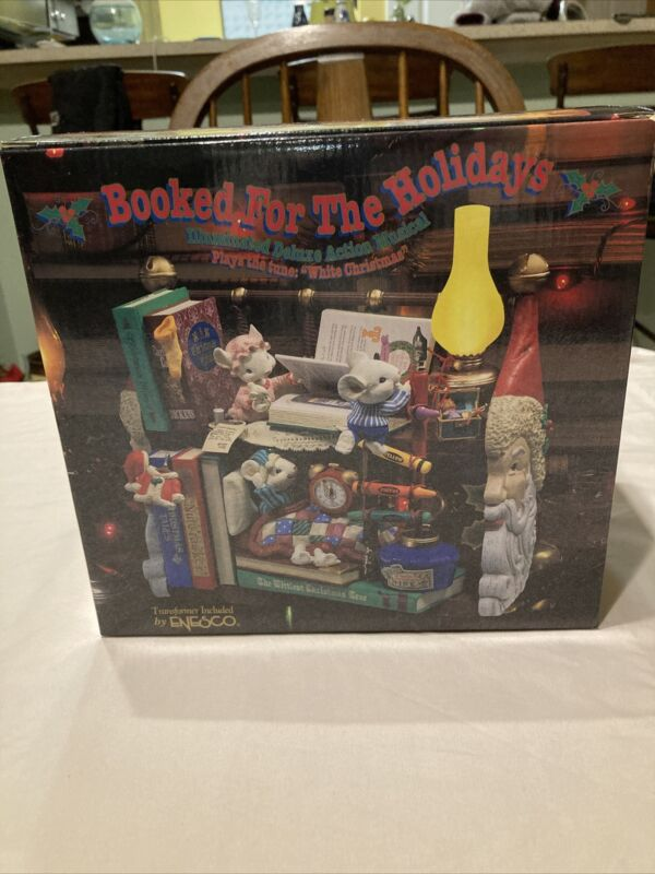 Enesco Deluxe action musical christmas tunes  Booked for the Holidays