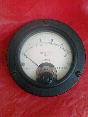 Used Weston Meter 0-5 Dc Volts