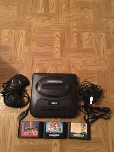 Sega Genesis with Sonic games