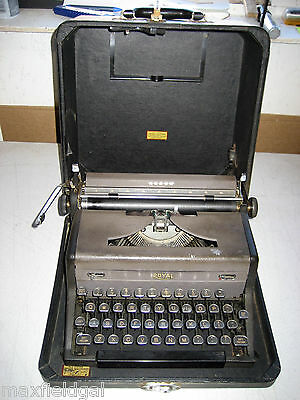 Refurbished Royal Arrow Portable Manual Typewriter Whard Case Warranty
