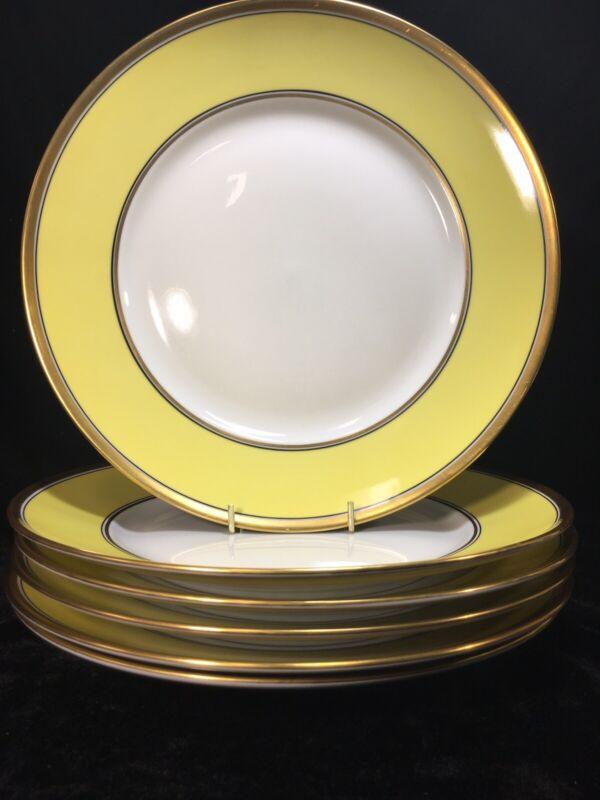 (6) Richard Ginori CONTESSA Yellow 10.375 Inch DINNER PLATES
