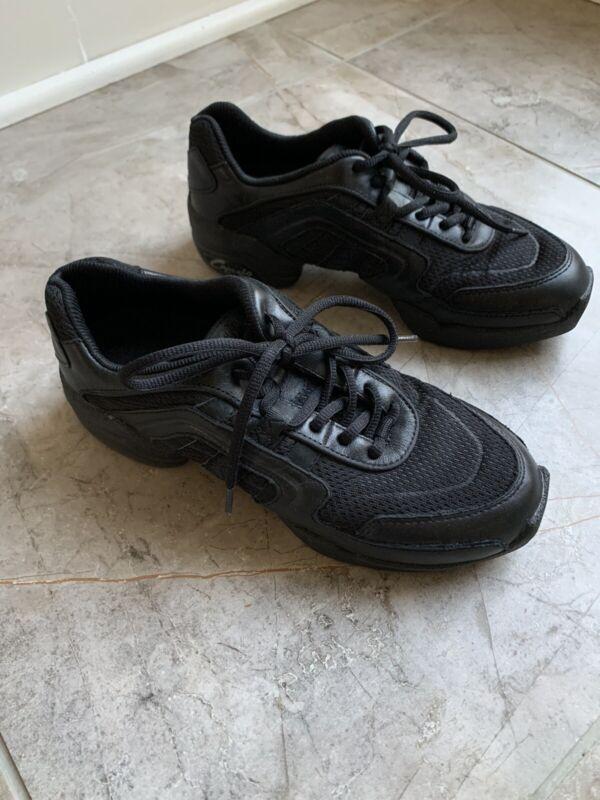 Capezio Dansneaker Womens Split Sole Size 8 Black Dance Shoes
