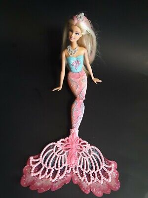 Barbie Doll Color Magic Mermaid Blonde Pink Tail Mattel Hair & Body Change Color