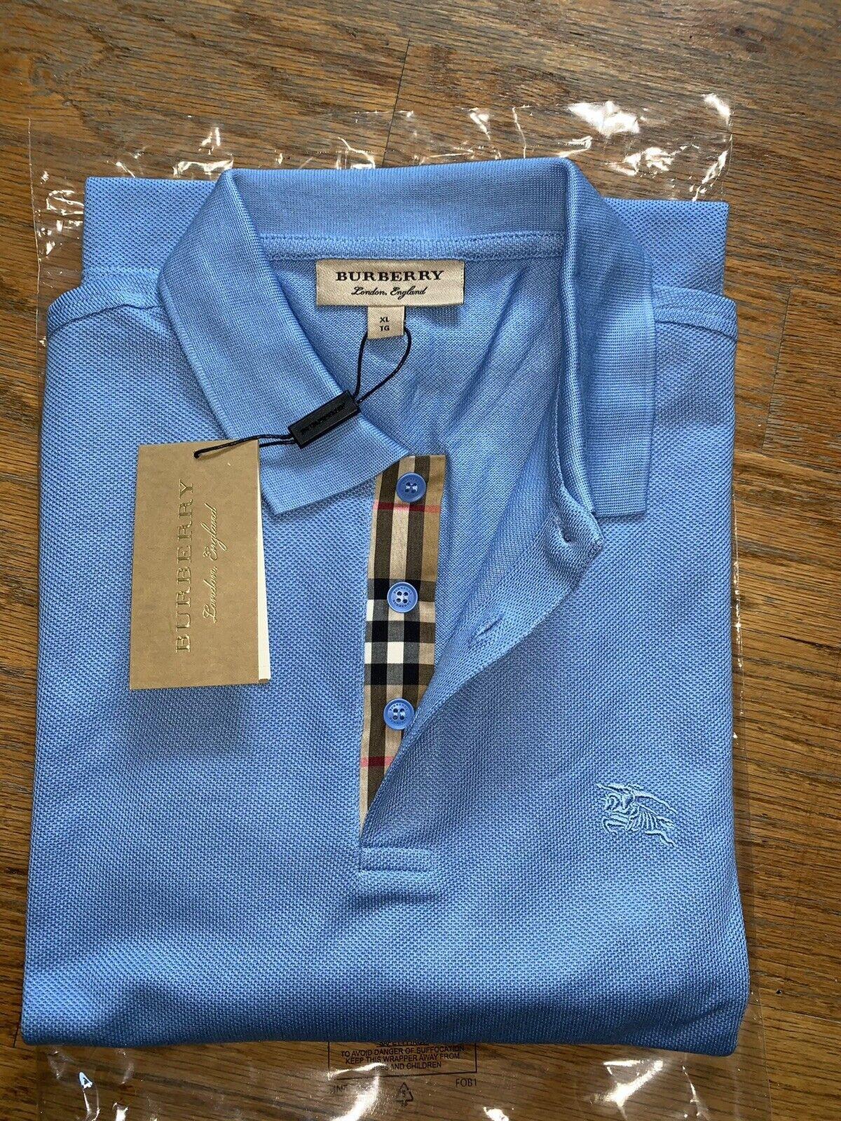 Burberry london men's nova check placket polo shirt s,m,l,xl,2xl,3xl