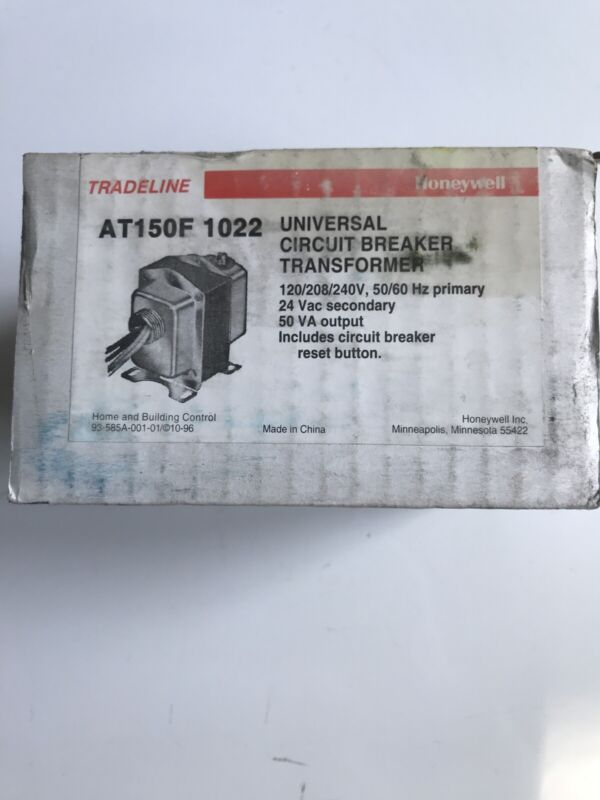 NEW HONEYWELL  AT150F 1022 UNIVERSAL CIRCUIT BREAKER TRANSFORMER  Ships For FREE