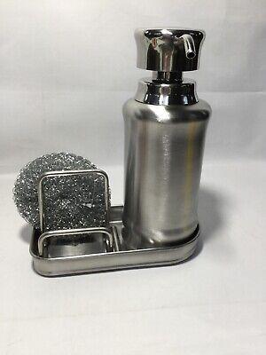 Interdesign 48070 York Ergo Soap & Scrubby Center, Stainless Steel