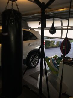 BOXING STAND GYM STATION PUNCHING BAG & SPEED BALL Beechboro Swan Area Preview