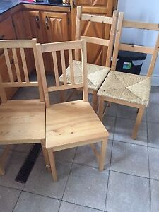 4 Dining room chairs,