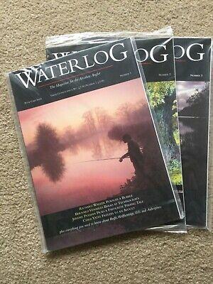 Waterlog Angling Magazines No's 1,2 & 3 unread, in original plastic packaging