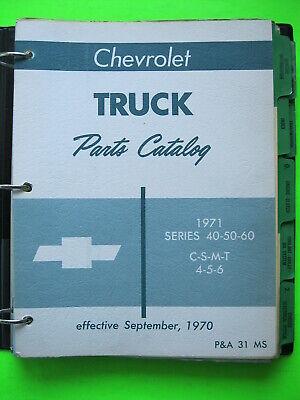 1971 Chevrolet Truck Parts Catalog Manual Series 40-50-60
